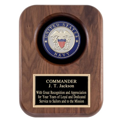Wood Military Plaque-Navy